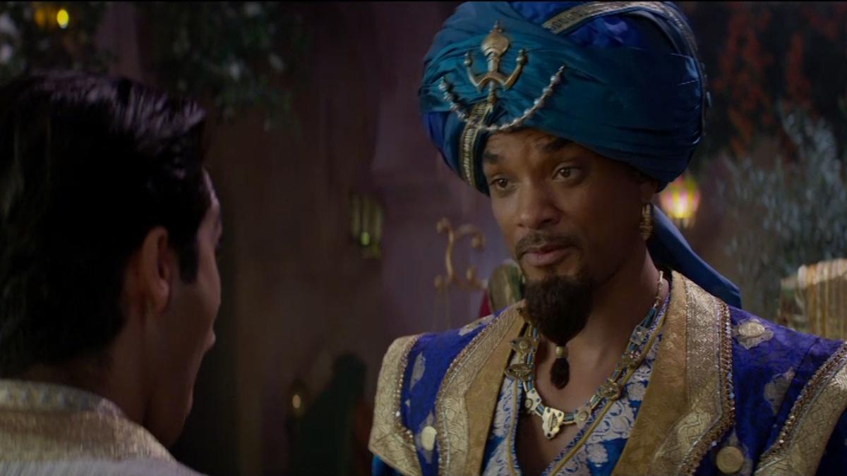 Aladdin: Will Smith in una scena del film