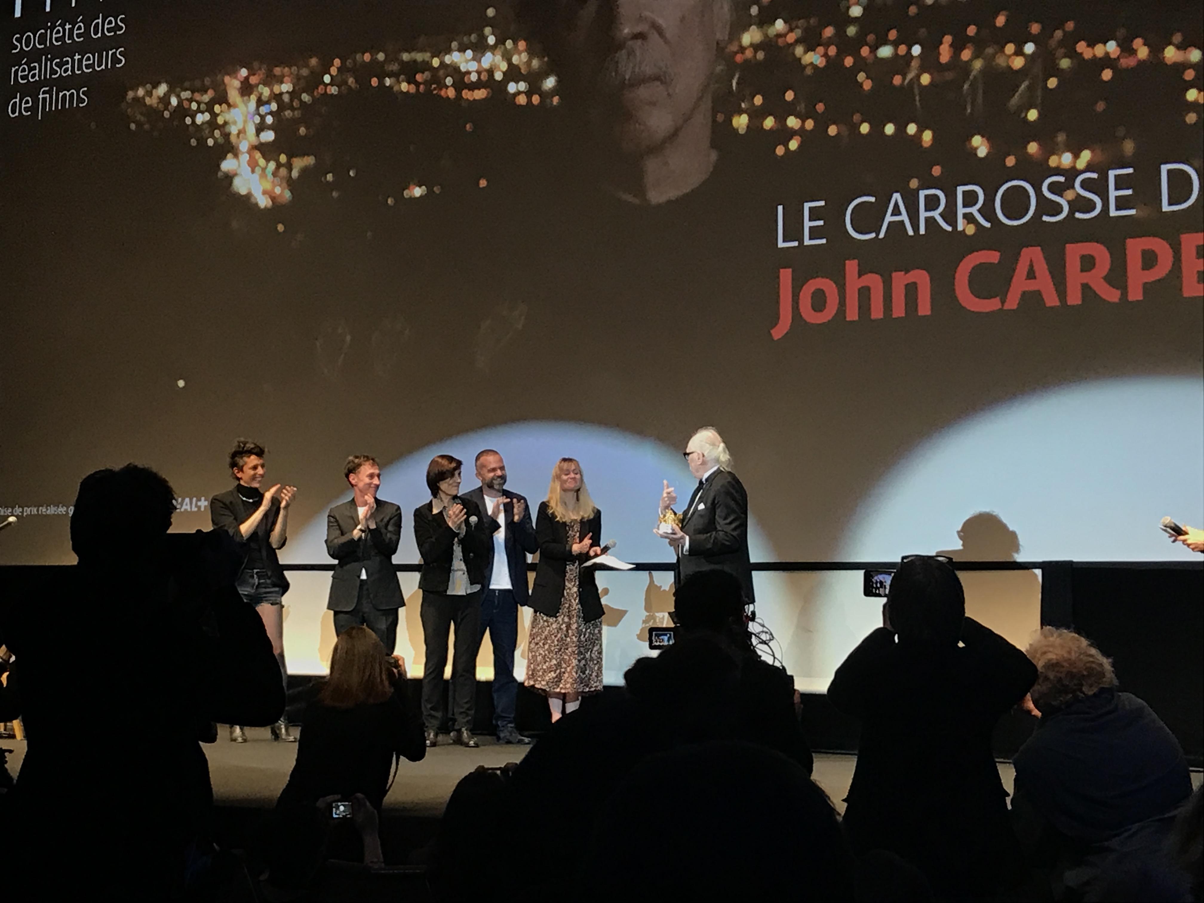 Cannes 2019: uno scatto di John Carpenter alla serata di apertura della Quinzaine