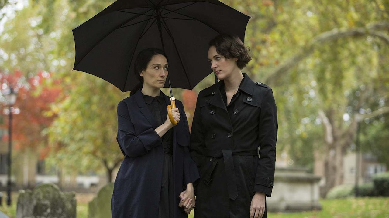 Fleabag: Phoebe Waller-Bridge durante una scena della seconda stagione