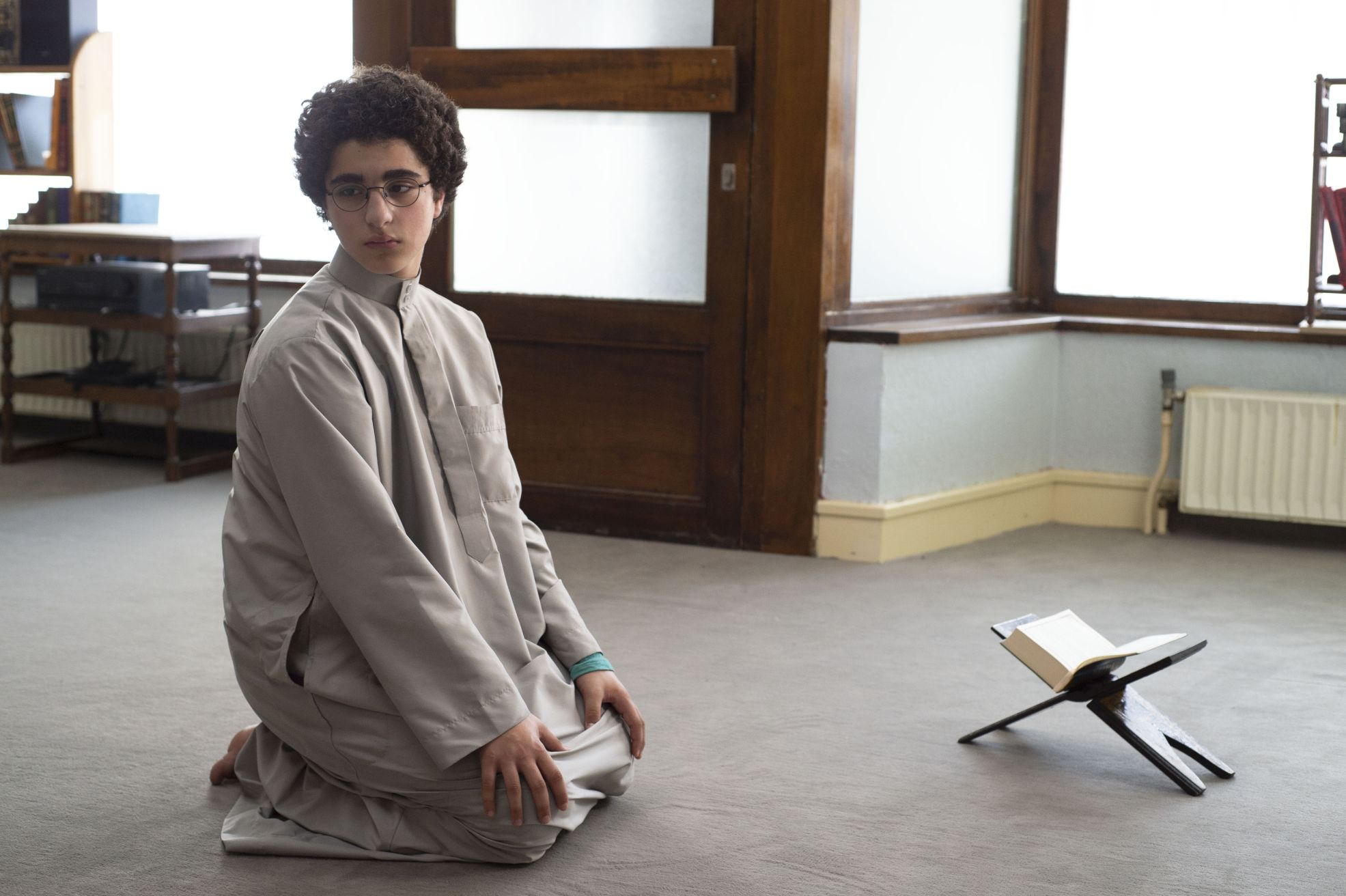 Le Jeune Ahmed: Idir Ben Addi durante una scena