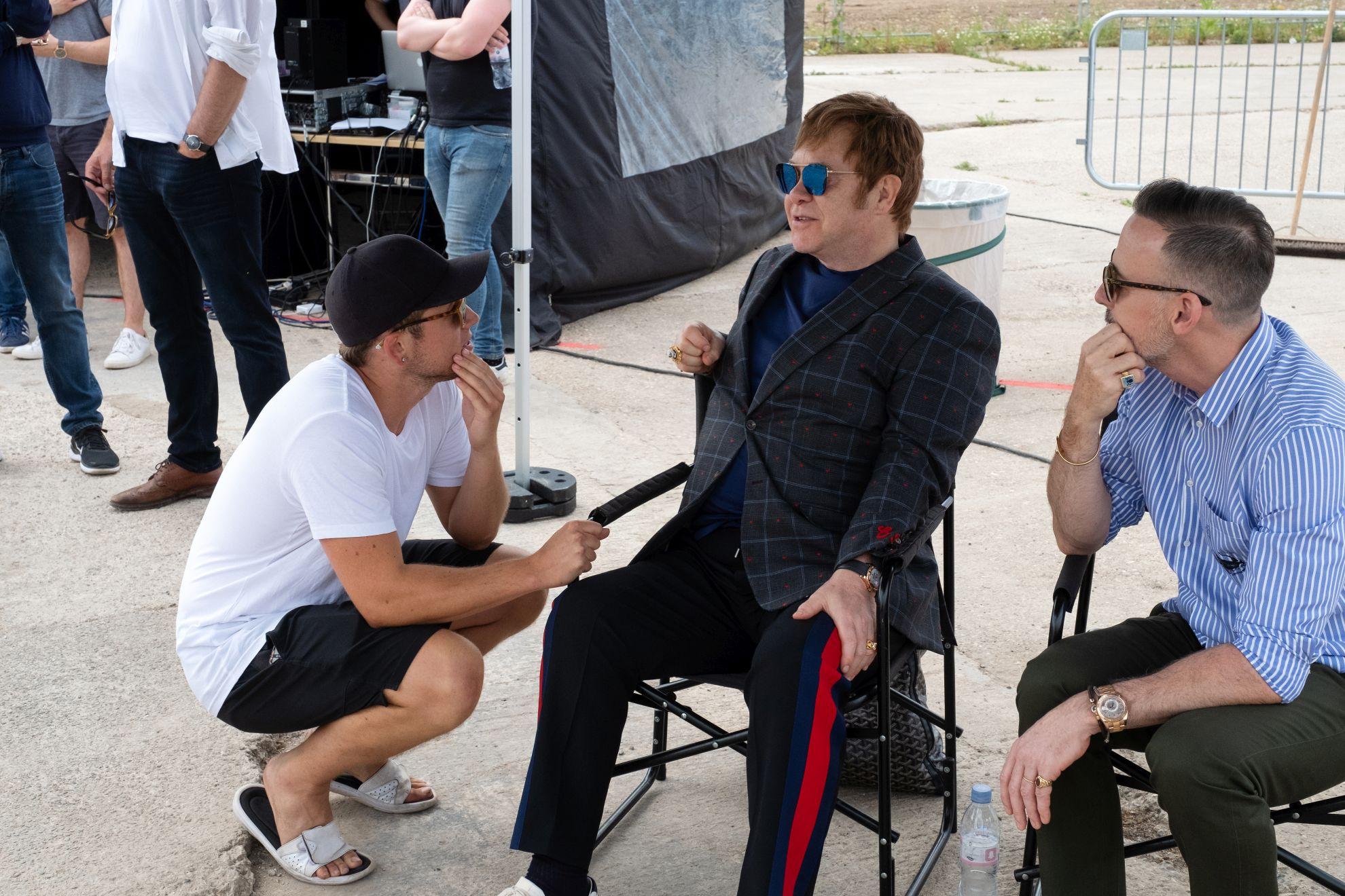 Rocketman: Elton John durante un momento sul set