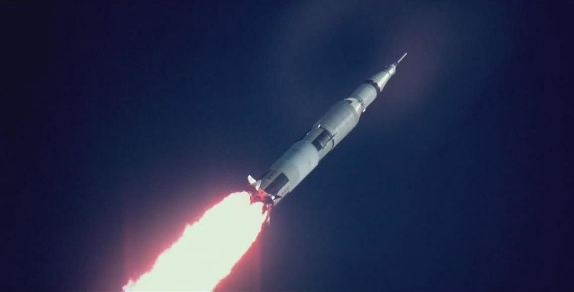 Apollo 11: l'Apollo 11 in ascesa in una scena del documentario