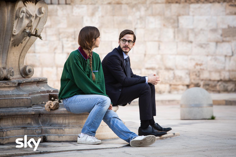 Mollami: Martina Gatti e Alessandro Sperduti in una scena del film Sky Original