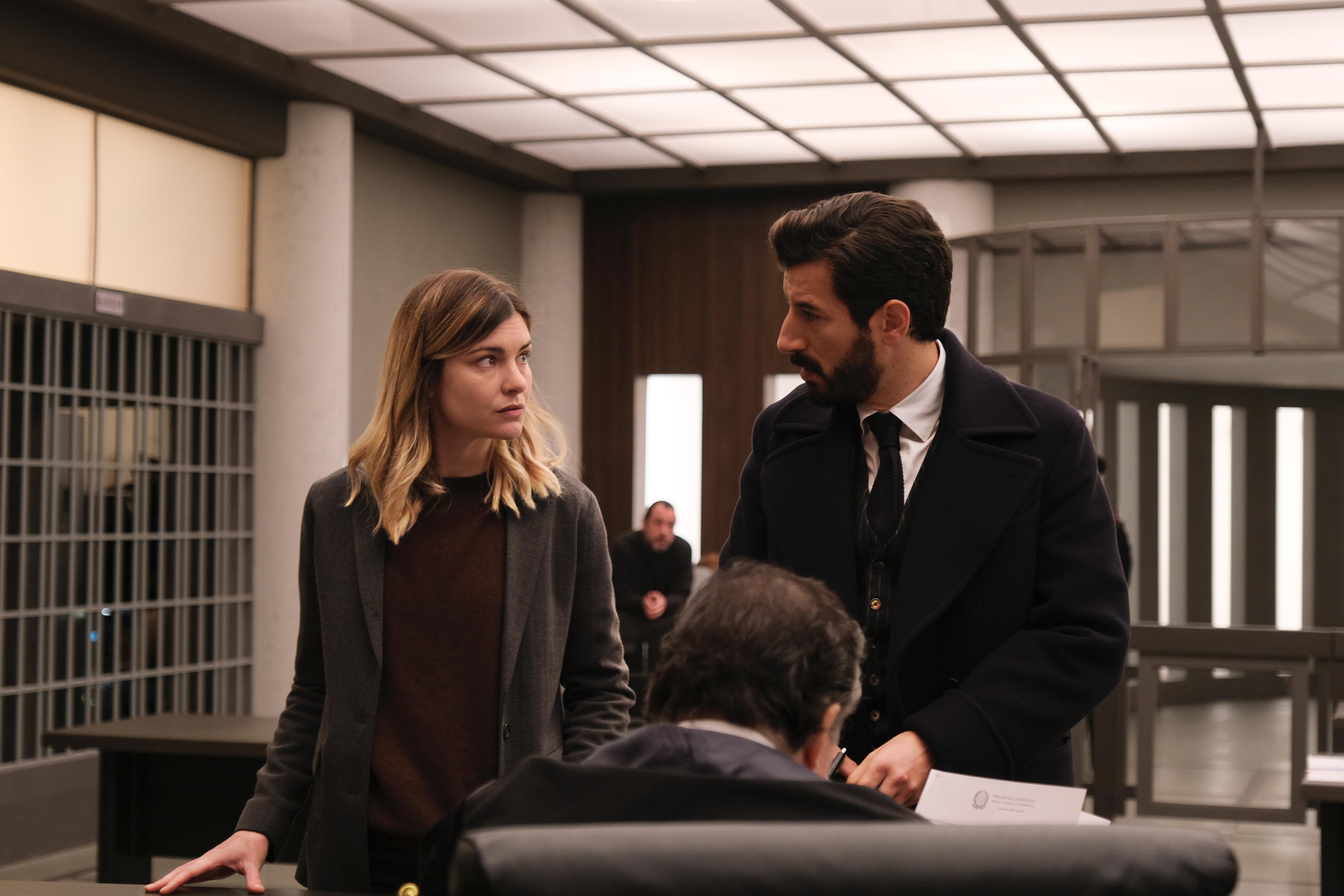 Il processo: Vittoria Puccini e Francesco Scianna