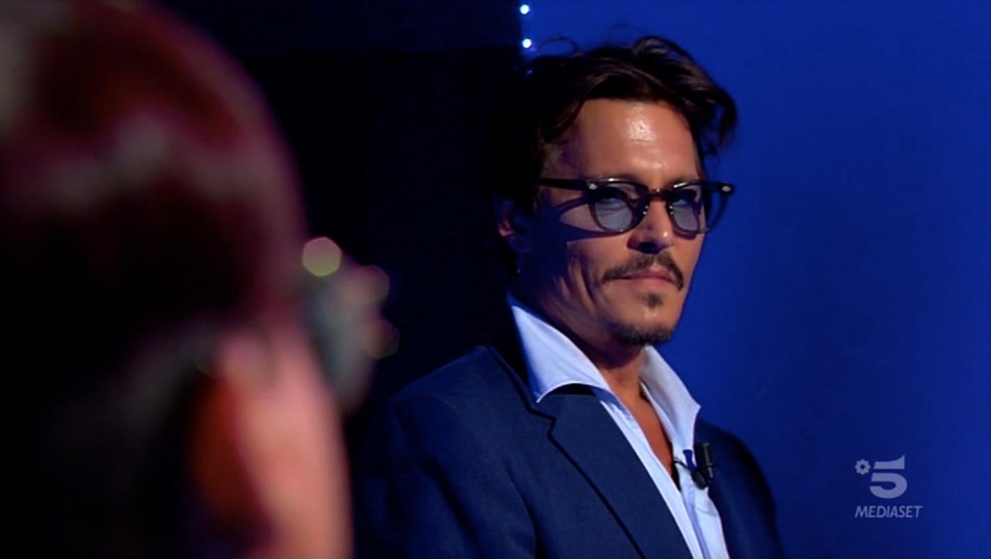 Johnny Depp a C'è posta per te, un momento della puntata