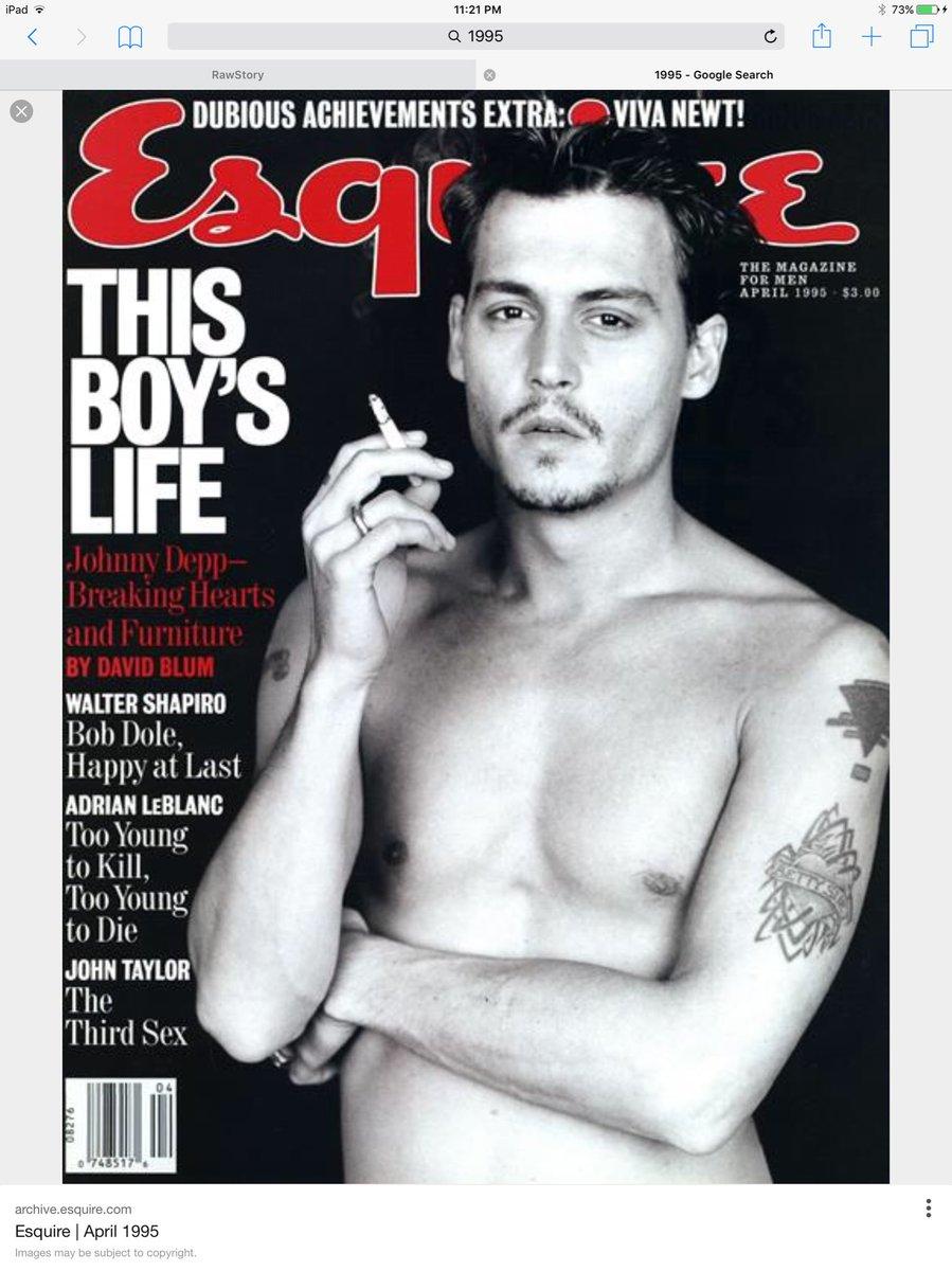 Johnny Depp sulla cover del magazine Esquire
