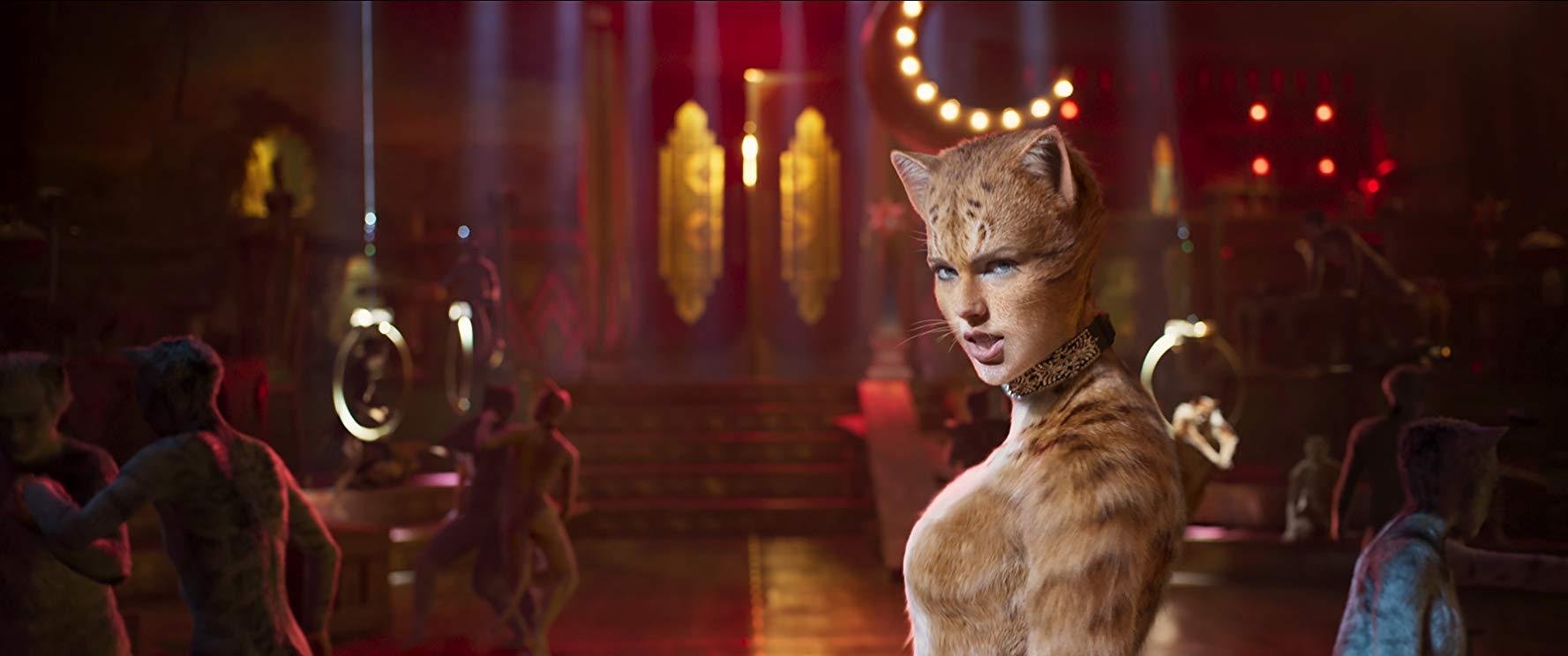 Cats: una scena del film con Taylor Swift