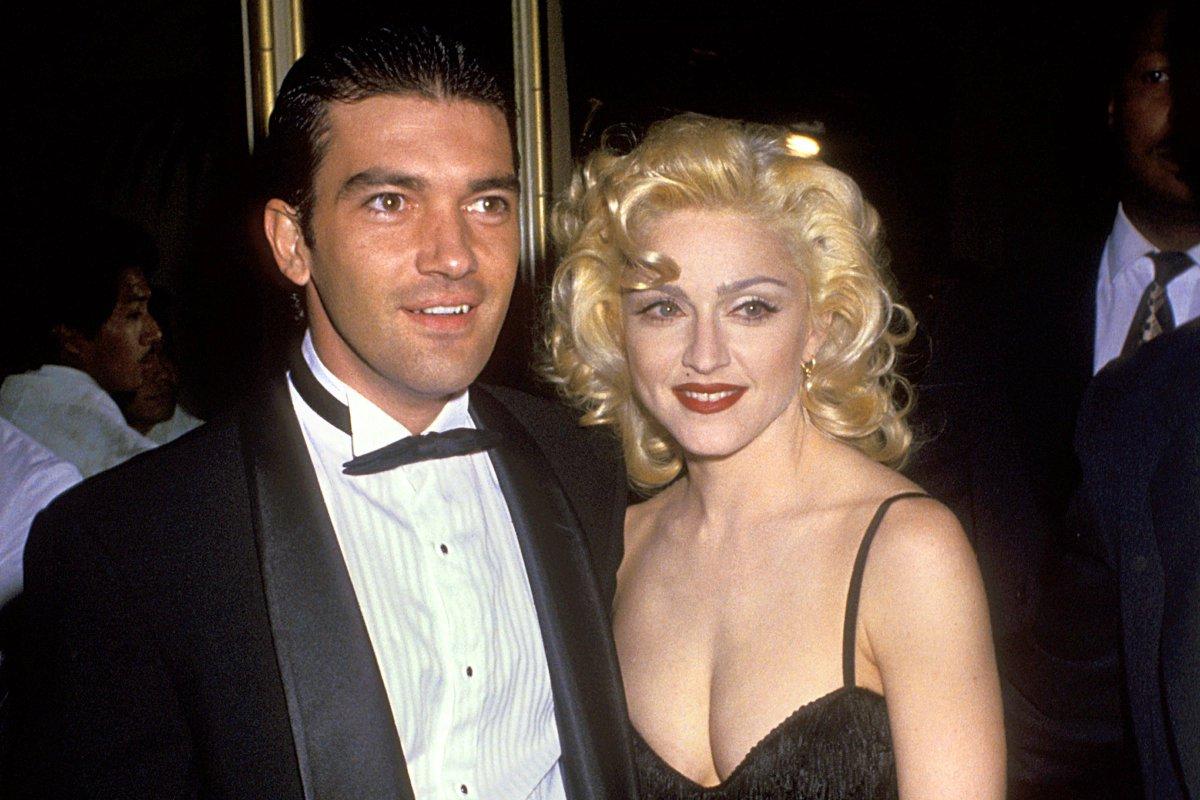 Madonna con Antonio Banderas negli anni '90