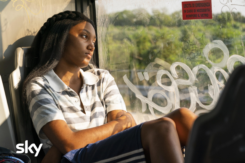 We Are Who We Are: Jordan Kristine Seamón (Caitlin) in un'immagine della serie Sky