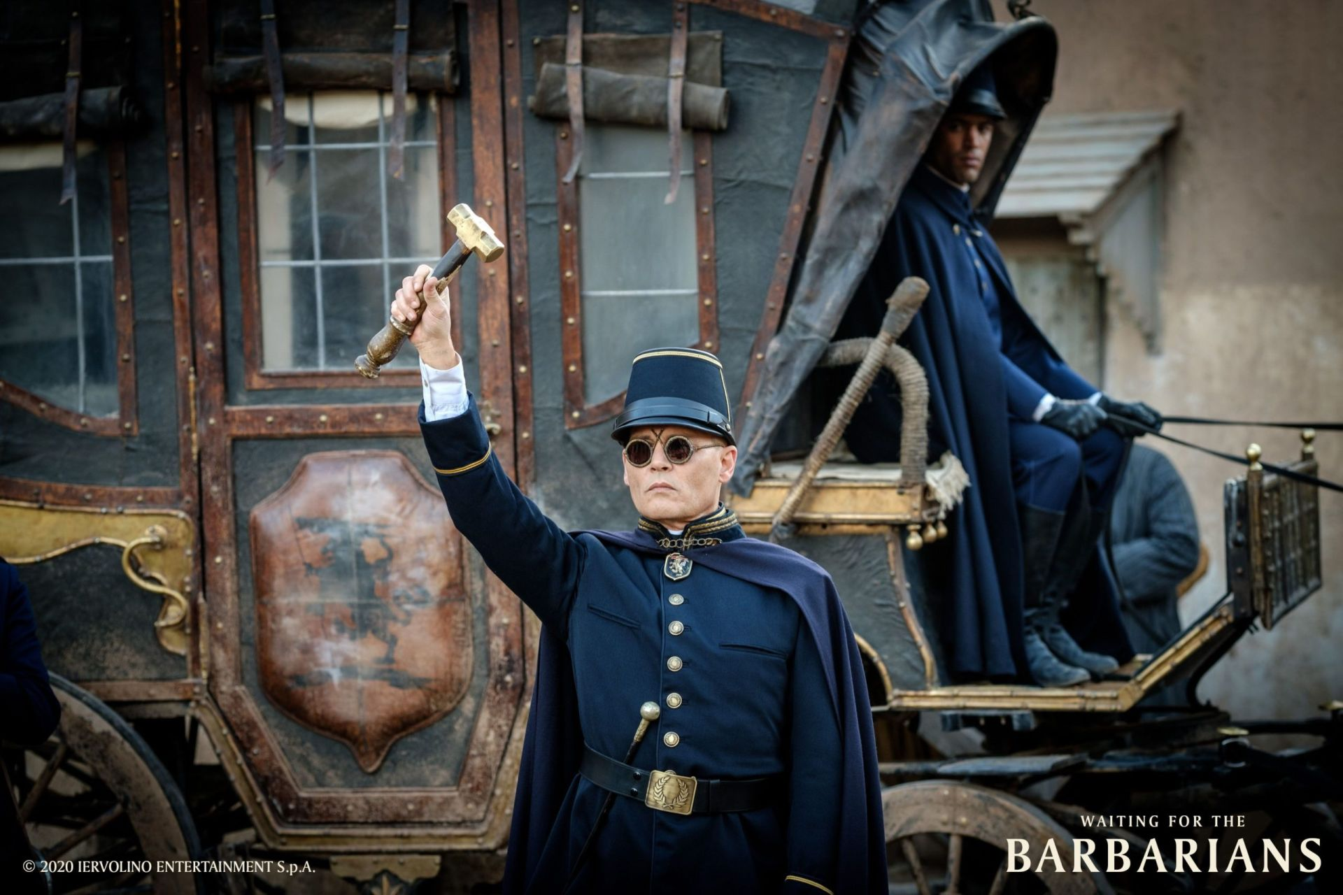 Waiting for the Barbarians: Johnny Depp in una scena