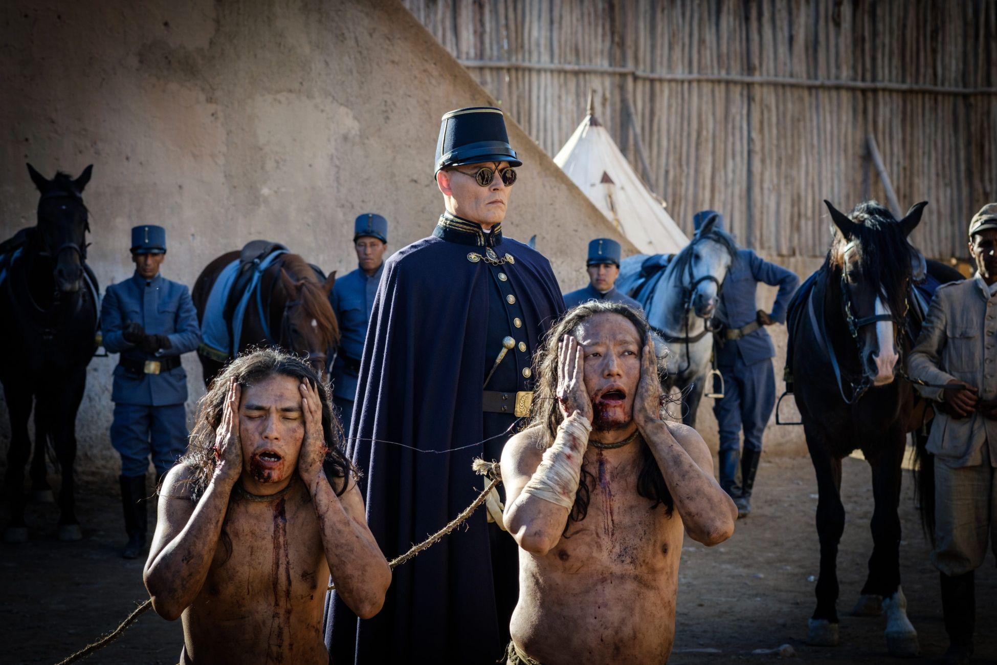 Waiting for the Barbarians: Johnny Depp in una scena drammatica