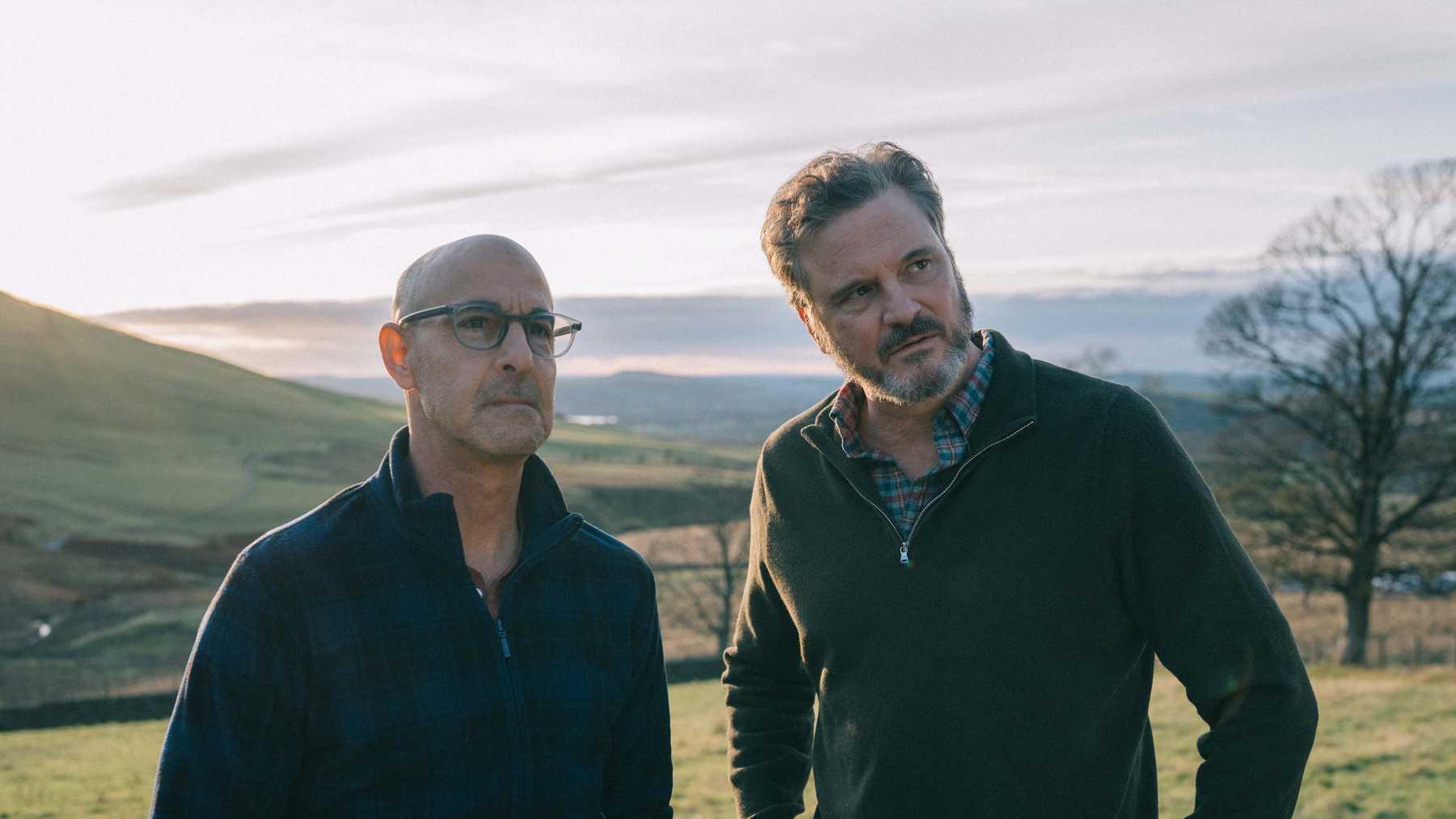 Supernova: Stanley Tucci e Colin Firth in una scena del film