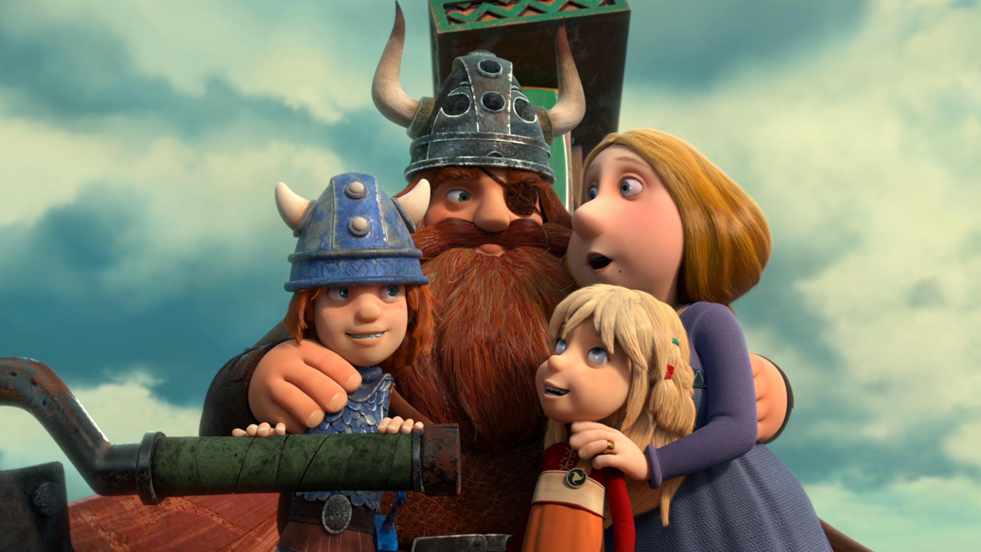 Vic il Vichingo e la Spada Magica: una scena del film animato