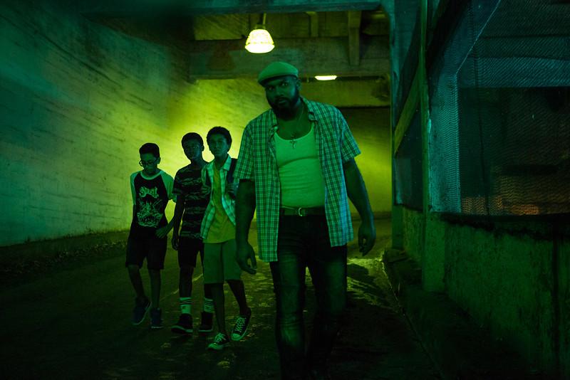 Vampires Vs. The Bronx: Jaden Michael, Gregory Diaz IV, Gerald Jones III durante una scena del film