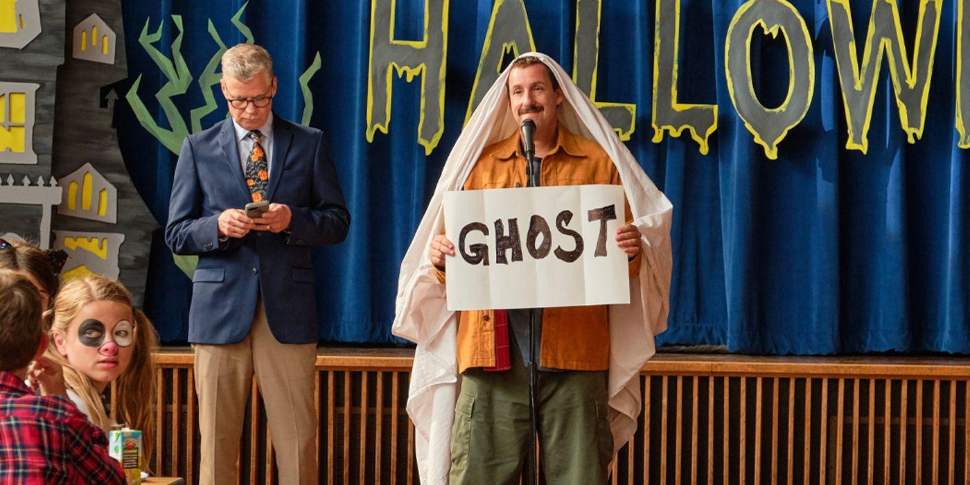 Hubie Halloween: Adam Sandler in una scena del film