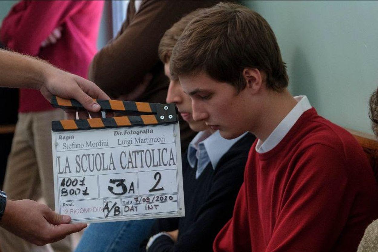 La scuola cattolica: un momento sul set