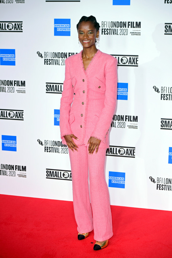 Letitia Wright sulla passerella del London Film Festival 2020