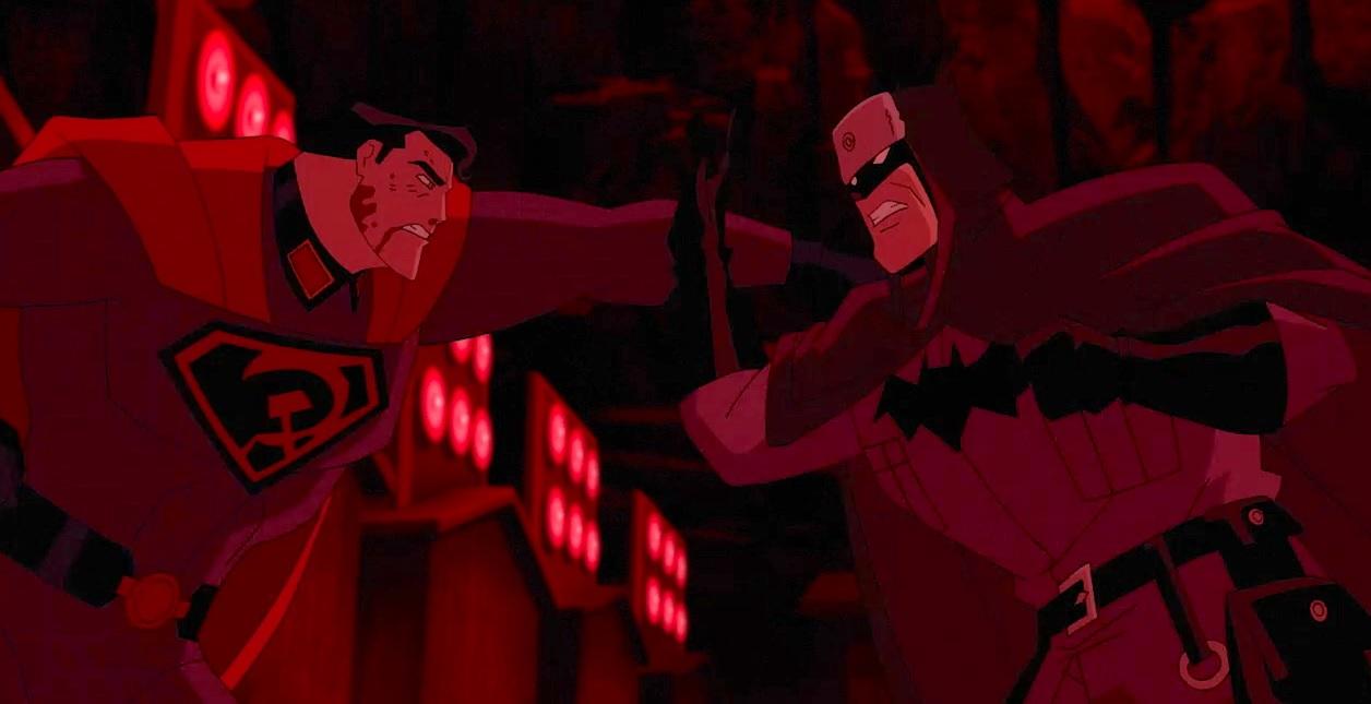 Superman: Red Son, una scena del film d'animazione
