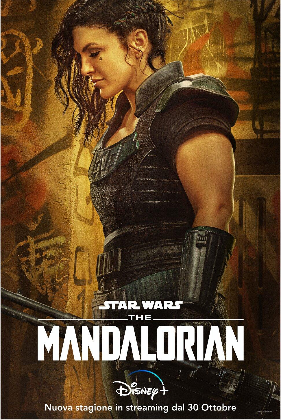 The Mandalorian 2: Gina Carano nel Character Poster della seconda stagione