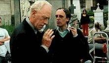 Sul set di Non ho sonno, Dario Argento e Max von Sydow