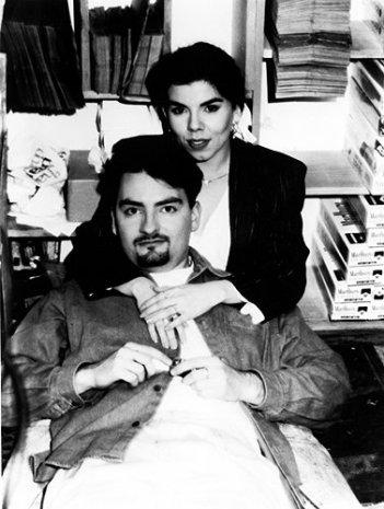 Brian O'Halloran e Marilyn Ghigliotti sul set di Clerks di Kevin Smith