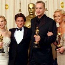 Foto di gruppo degli attori premiati