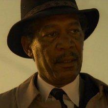 Morgan Freeman in una scena di Seven (Se7en)