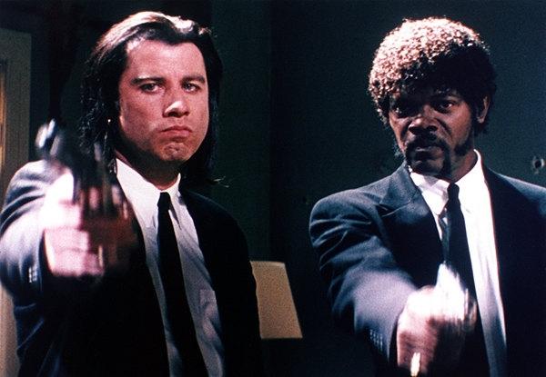 Vincent Vega (John Travolta) e Jules Winnfield (Samuel L. Jackson) in Pulp Fiction