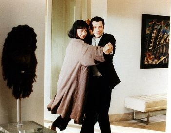Vincent Vega (John Travolta) e Mia Wallace (Uma Thurman) in Pulp Fiction