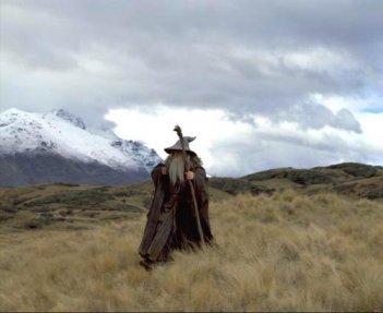 Ian McKellen come un Gandalf di John Howe