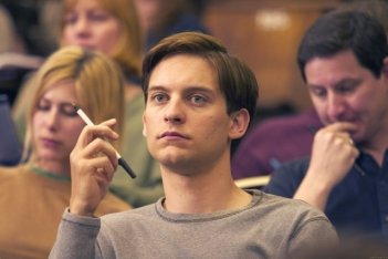 Tobey Maguire in una sequenza del film Spider-Man 2