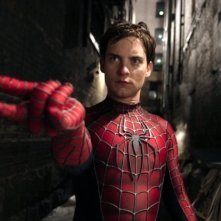 Tobey Maguire in una scena del film Spider-Man 2