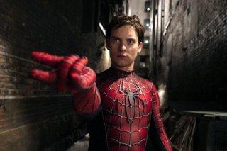 Tobey Maguire in una scena del film Spider-Man 2