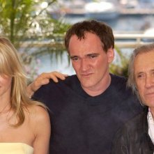 Daryl Hannah, Quentin Tarantino e David Carradine al photocall di Cannes 2004