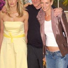Daryl Hannah, Quentin Tarantino e Uma Thurman al photocall di Cannes 2004