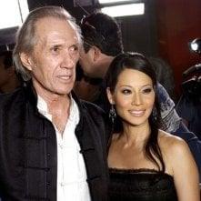 David Carradine e Lucy Liu alla prima di Kill Bill Vol. 1 a Los Angeles