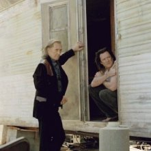 David Carradine e Michael Madsen in una scena del film Kill Bill: Volume 2