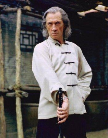 David Carradine in una scena del film Kill Bill: Volume 2