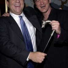 Il produttore Harvey Weinstein con Quentin Tarantino alla prima di Kill Bill Vol. 1 a Los Angeles