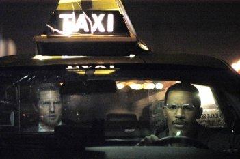 Jamie Foxx e Tom Cruise in una scena di Collateral