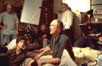 Louis Garrel e Bernardo Bertolucci sul set di The Dreamers