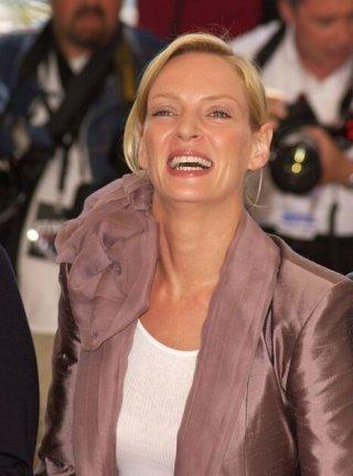 Uma Thurman al photocall di Cannes 2004