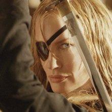 Daryl Hannah nei panni di Elle Driver in una scena del film Kill Bill: Volume 2
