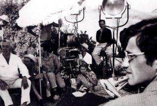Jean Paul Belmondo, Sophia Loren e Vittorio de Sica sul set de La ciociara