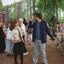 Alfonso Cuarón istruisce Emma Watson sul set di Harry Potter e il prigioniero di Azkaban