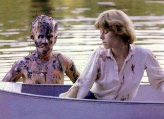 Ari Lehman ed Adrienne King durante una pausa delle riprese di Venerdì 13