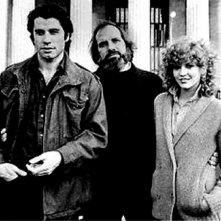 John Travolta, Nancy Allen e Brian De Palma sul set di Blow Out