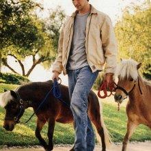 Noah Wyle con i suoi pony