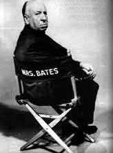 Alfred Hitchcock in una foto promozionale per Psycho