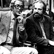Brian De Palma e Michael Caine sul set di Vestito per uccidere